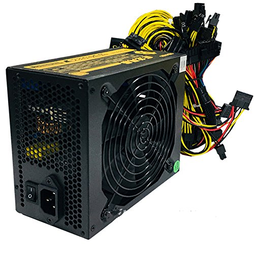 1800w Mining Power Supply 90  High Efficiency For 8 GPU Ethereum S9 S7 L3 Rig Mining Miner Machine (1800W)