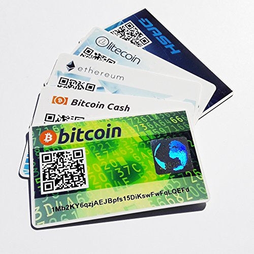4 x Card Wallet Cryptocurrency Multipack Bitcoin Cash Dash Ethereum Litecoin Pack BTC