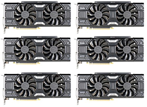 6 Packs of EVGA - NVIDIA GeForce GTX 1060 6144MB GDDR5 PCI Express 3 0 Graphics Card - Black (06G-P4-6264-KB