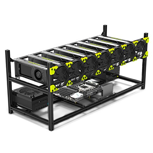 8 GPU Stackable Preassemble Mining Case Rig Aluminum Open Air Frame For Ethereum(ETH) ETC ZCash Monero BTC Easy Mounting Edition(Just 10 minutes)
