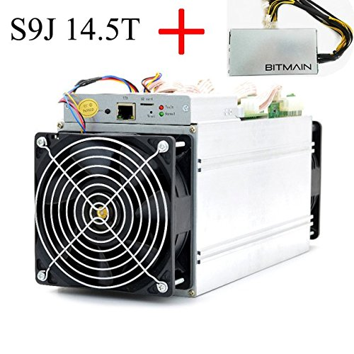 AntMiner S9j ~14 5TH s @ 0 093W GH 16nm ASIC Bitcoin Miner with PSU and Power Cord