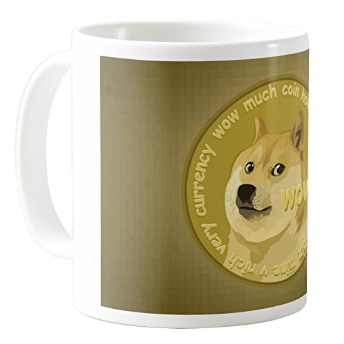AquaSakura - Dogecoin - 11oz Ceramic Coffee Mug Tea Cup