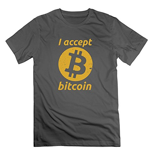 Artys Tshirt I Accept Bitcoins Men 100  Cotton Tshirts Novelty T Shirt