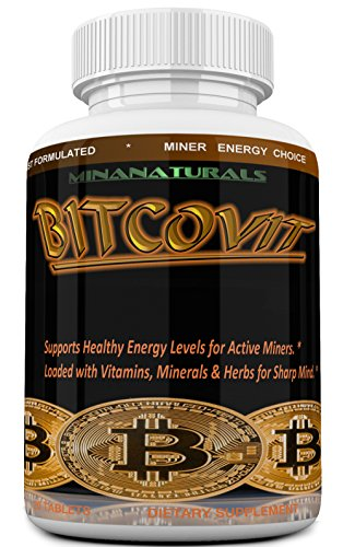 BITCOVIT Mining Energy Booster Pills – Enhance Sharp Mind  Stamina and Mood for Bitcoin  Litecoin   Ethereum Cryptocurrency Miners  All Natural Pills