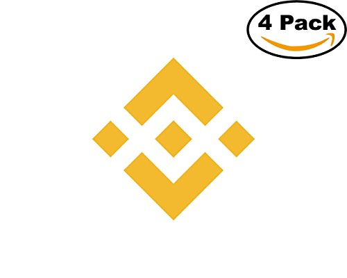 Binance Coin 4 Stickers 4X4 inches Car Bumper Window Sticker Decal