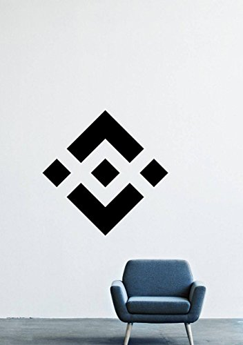 Binance Coin Cryptocurrency Wall Decals – Logo Vinyl Stickers for Men Women Kids – Stickers for Car Windshield Door Window – Removable Kitchen Living Room Home Decor Wall Decals GMO9719