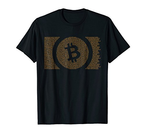 Bitcoin Cash Satoshi Nakamoto White Paper T-Shirt BCH ORANGE
