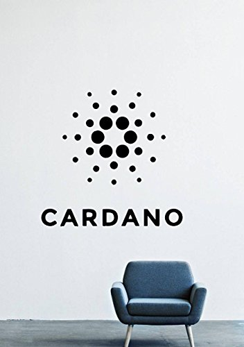 Cardano Cryptocurrency Wall Decals – Logo Vinyl Stickers for Men Women Kids – Stickers for Car Windshield Door Window – Removable Kitchen Living Room Home Decor Wall Decals GMO9724