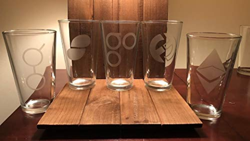 Choose Your Own Cryptocurrency Pint Glass - Bitcoin - Cryptocurrency - Monero - Ethereum - Golum - Blockchain