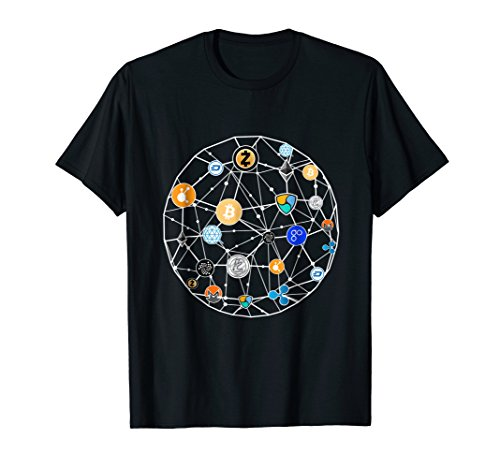 Crypto World T-shirt  Ethereum  Bitcoin  Litecoin  T-shirt