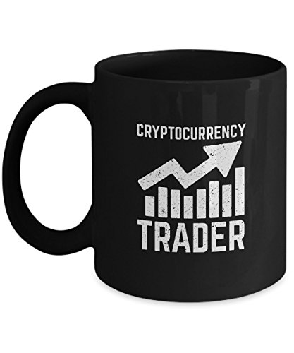 Cryptocurrency Trader Mug - Ceramic Custom Printed Cup for Crypto Fans - Great Bitcoin Traders Gift Idea - Blockchain Fan Present