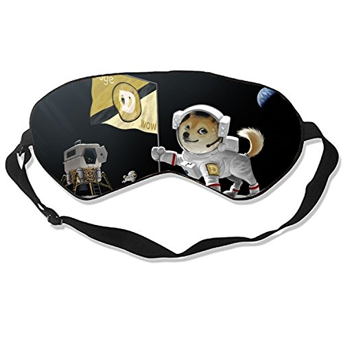 Dogecoin 100  Silk Sleep Mask for A Full Night's Sleep  Comfortable and Super Soft Eye Mask with Adjustable Strap