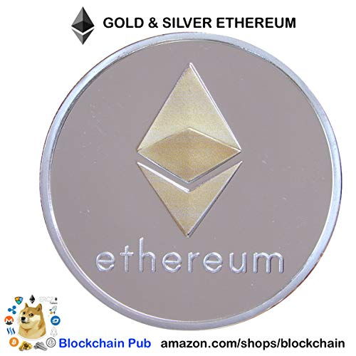 """Ethereum Coin - Gold   Silver Plated """"Cryptocurrencies You Hold"""""""