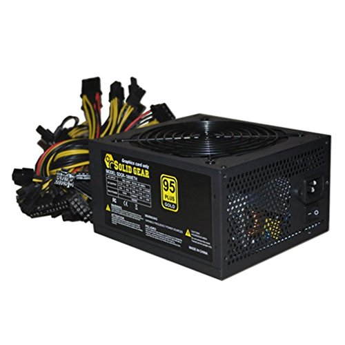 GBSELL 2000W ATX Gold Mining Power Supply SATA IDE 8 GPU for ETH BTC Ethereum