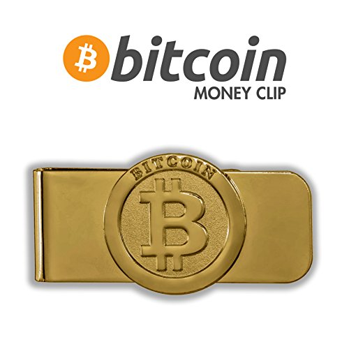 Gold Plated Bitcoin Wallet- Money Cash Clip  CreditCard Holder    Business Card Holder  Minimalist Wallet  Best for Security Travel Accessories  Travel Wallet