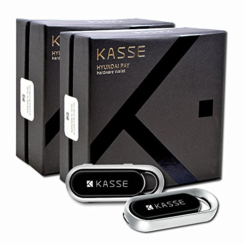 Kasse 2-Pack of Hardware Wallet by Hyundai Pay for Cryptocurrency HK-1000 High Security Virtual Currency Crypto Vault - Bitcoin Ethereum Ripple Litecoin Dash ZCash Bitcoin cash