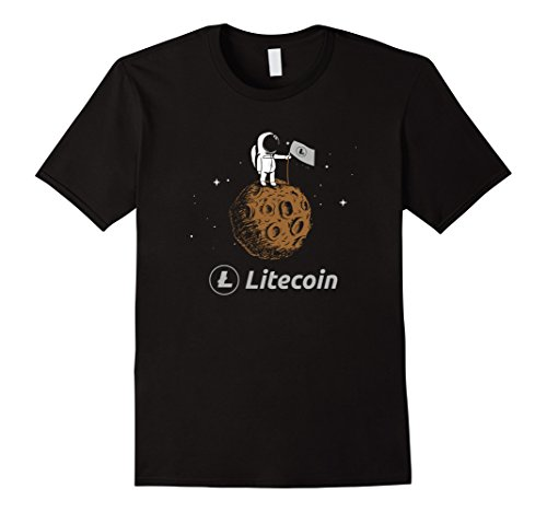 Litecoin LTC Crypto to the Moon Shirt Featuring Astronaut