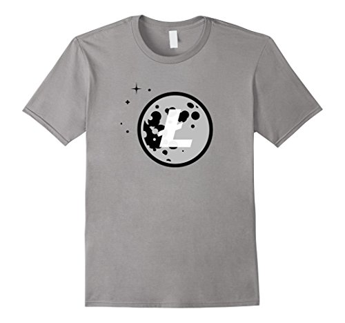 Litecoin Moon Logo Cryptocurrency T-Shirt