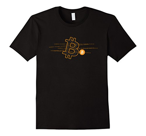 Mens Bitcoin Logo Cool Cryptocurrency T-Shirt XL Black