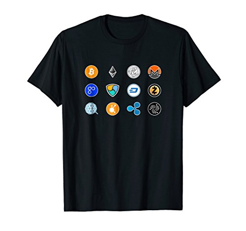 Mens Crypto T-shirt  Bitcoin  Ethereum  Litecoin  Cryptocurrency  XL Black