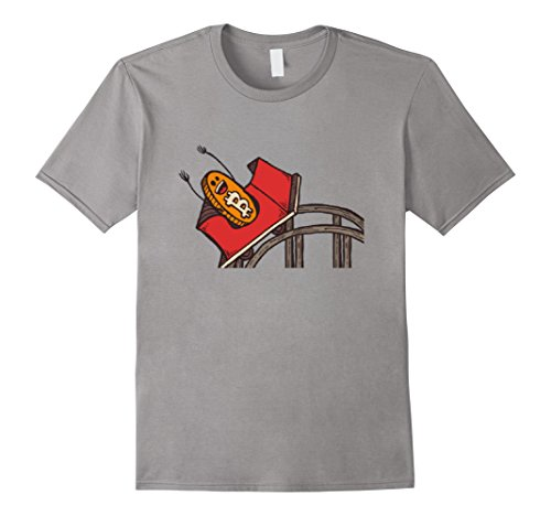 Mens Funny Bitcoin Rollercoaster T-Shirt   Cryptocurrency Tee Medium Slate