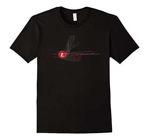 Mens Mens Litecoin Logo Red Cool Cryptocurrency T-Shirt Large Black