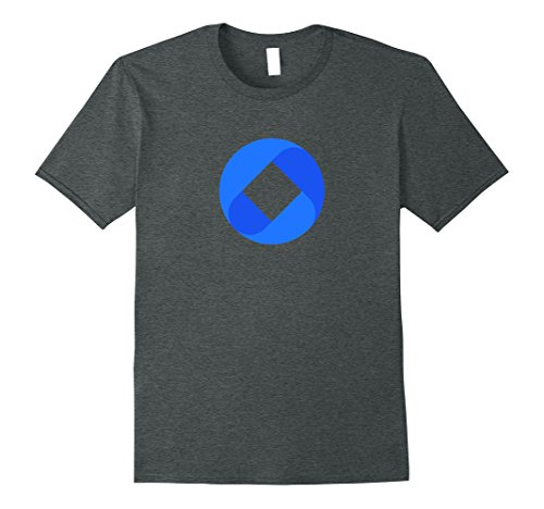 Mens OmiseGO Logo T-Shirt   Cryptocurrency Blockchain T Shirt Large Dark Heather