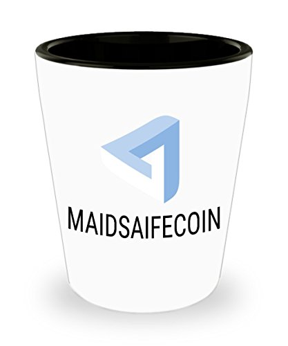 Official MaidSafeCoin Cryptocurrency Bar Drinking 1 5oz Shot Glass Crypto Miner Blockchain Invest Trade Buy Sell Hold MAID