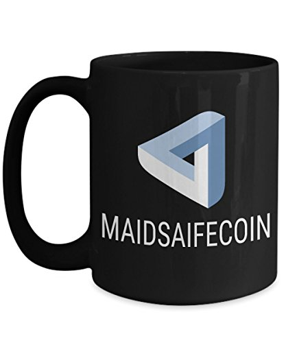 Official MaidSafeCoin Cryptocurrency Big Mug Acrylic Coffee Holder Black 15oz Crypto Miner Blockchain Invest Trade Buy Sell Hold MAID