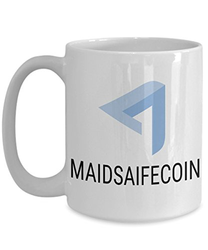 Official MaidSafeCoin Cryptocurrency Big Mug Acrylic Coffee Holder White 15oz Crypto Miner Blockchain Invest Trade Buy Sell Hold MAID