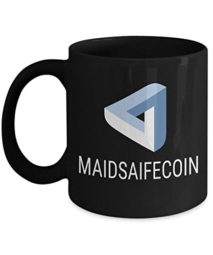 Official MaidSafeCoin Cryptocurrency Mug Acrylic Coffee Holder Black 11oz Crypto Miner Blockchain Invest Trade Buy Sell Hold MAID