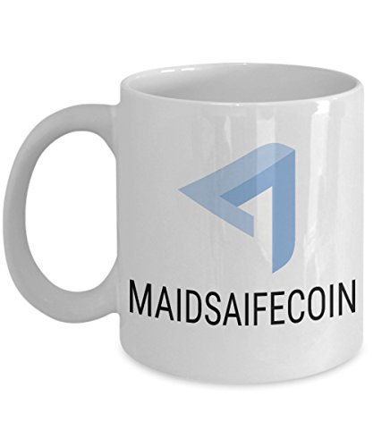Official MaidSafeCoin Cryptocurrency Mug Acrylic Coffee Holder White 11oz Crypto Miner Blockchain Invest Trade Buy Sell Hold MAID