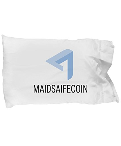 Official MaidSafeCoin Cryptocurrency Standard Size White Pillow Case Crypto Miner Blockchain Invest Trade Buy Sell Hold MAID