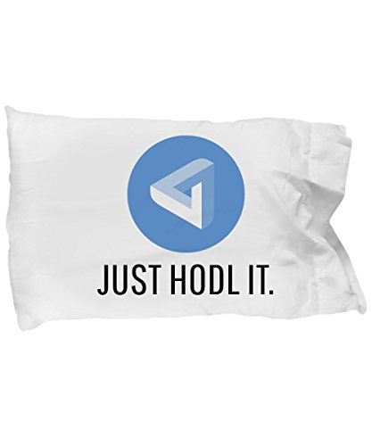 Official MaidSafeCoin Just Hodl It Crypto Currency Standard Size Black Pillow Case Cryptocurrency Miner MAIDchain Invest Trade Buy Sell Hold MAID