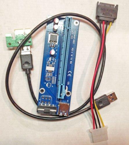 Poweka USB Pci-e Riser Cable GPU Mining Litecoin Dogecoin