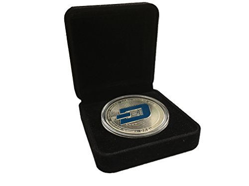 SALE  Dash Coin Commemorative Collector's Set   Dash Coin Silver Plated with Showcase Box and Plastic Round Display Case Set for Crypto Enthusiast   Bitcoin Ethereum Miner   HODL Tokens