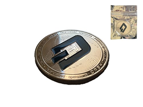 Sale  Dash Coin   Commemorative Silver Plated Dash Coin with Plastic Round Display Case in Zipped Bag for Crypto Enthusiast   Bitcoin Ethereum Miner   HODL Tokens by Maxon …