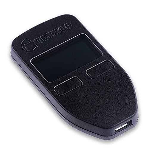 Trezor hardware wallet compatible with bitcoin  dash  zcash  ethereum  Litecoin Black