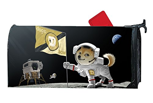 buxten Unique Mailbox Covers Dogecoin Not Easy To Fade Personalized Mailbox Makeover Outdoor Magnetic