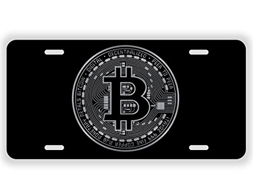 Bitcoin Blockchain Cryptocurrency Coin Laser Etched License Plate Gold Crypto Mining Sticker Mastering Digital Money Currency Revolution Cryptocurrencies Wallet Litecoin Ripple Ethereum Cryptoassets