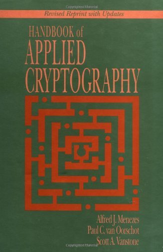 By Alfred J  Menezes - Handbook of Applied Cryptography  1st (first) Edition