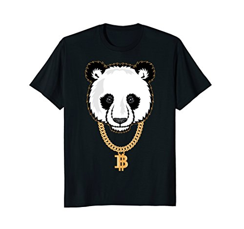 Funny Gangster Panda Bitcoin TShirt Cryptocurrency Tee Shirt